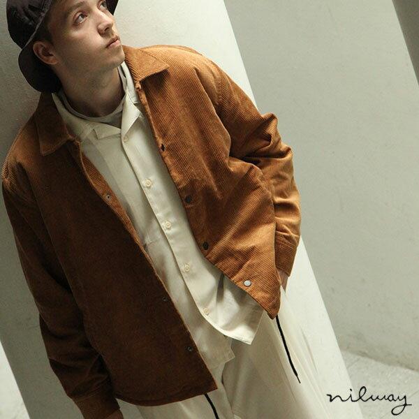 【Nilway】燈芯絨教練外套 內刷毛 0
