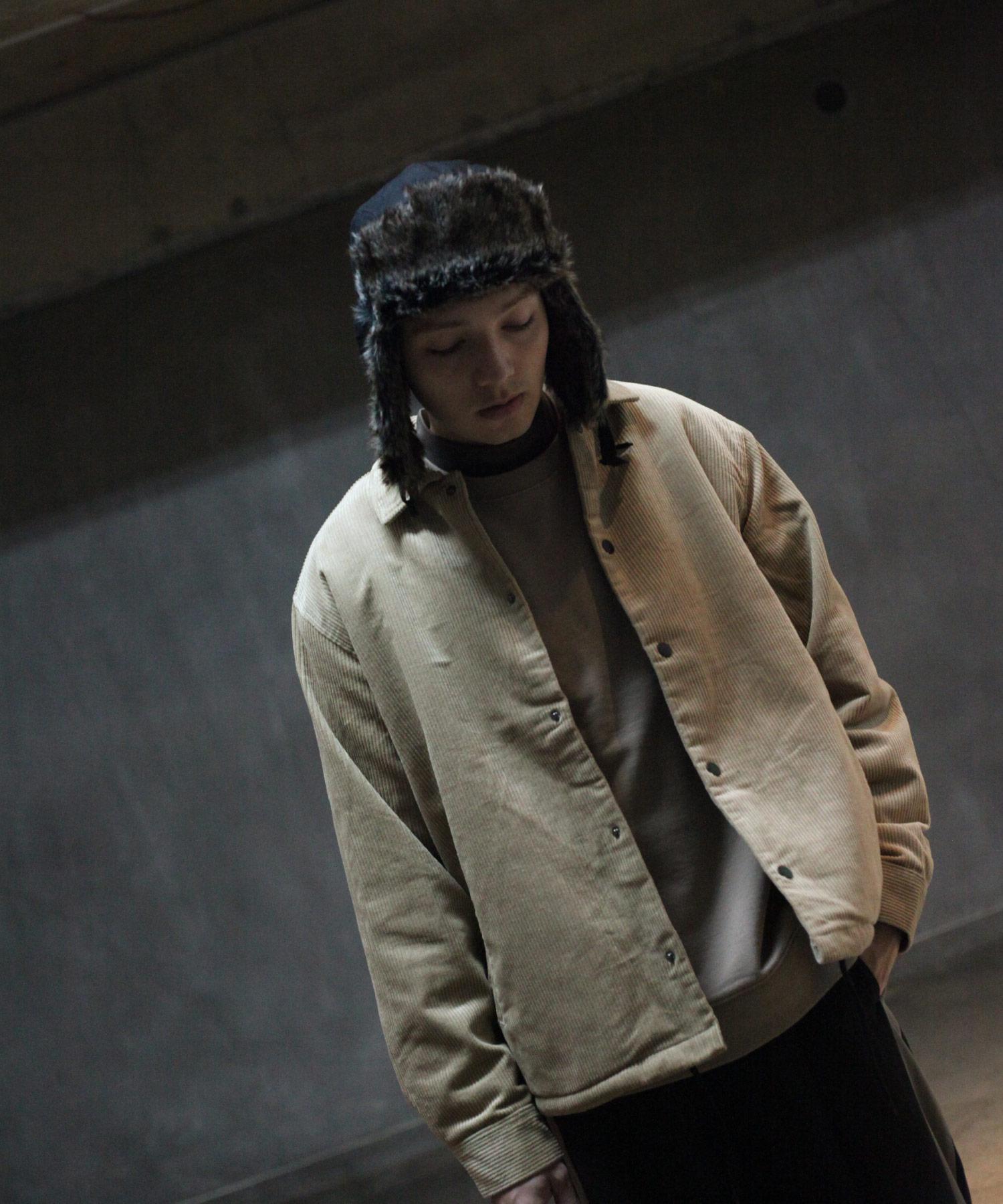 【Nilway】燈芯絨教練外套 內刷毛 1
