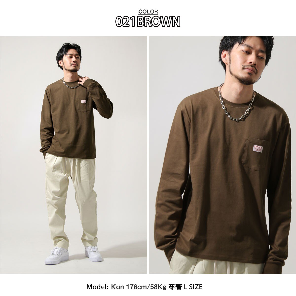 【New】KANGOL  長袖T恤 6