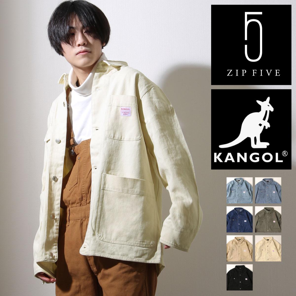 KANGOL 工裝丹寧夾克 寬版 別注款 0
