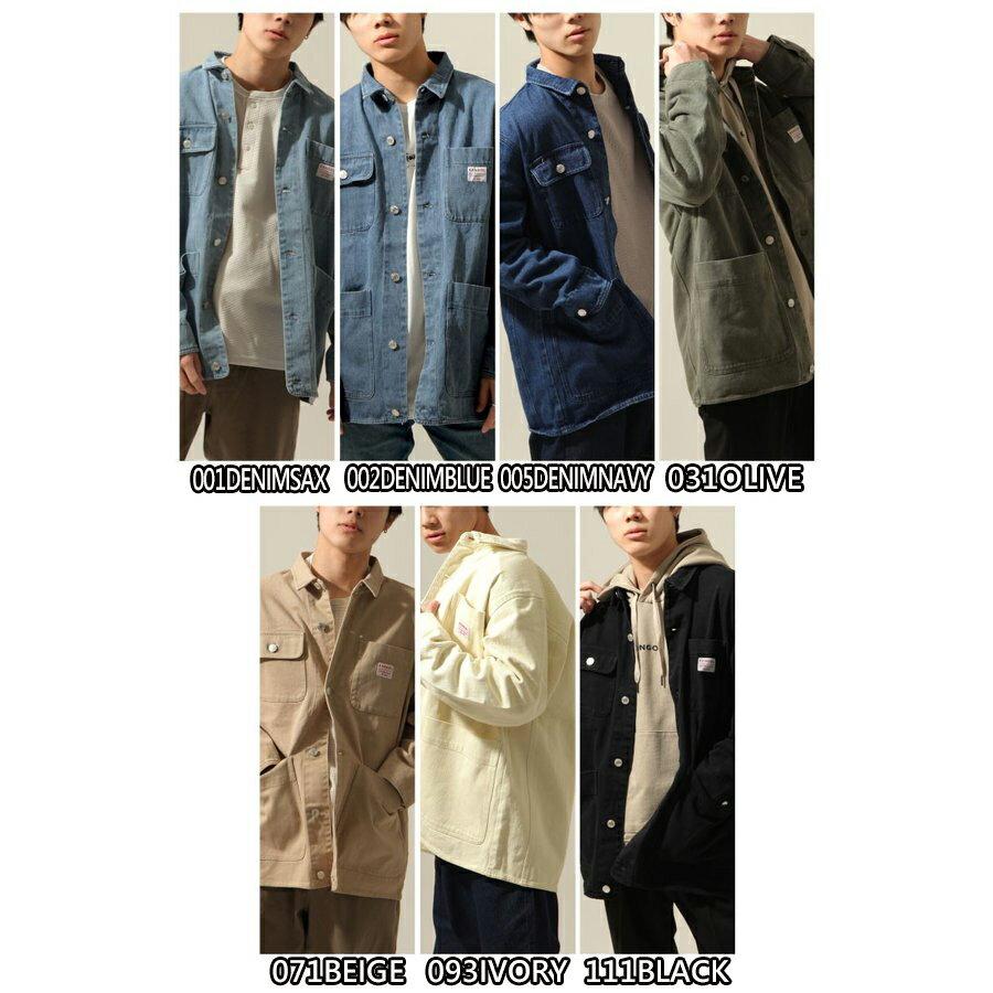 KANGOL 工裝丹寧夾克 寬版 別注款 2
