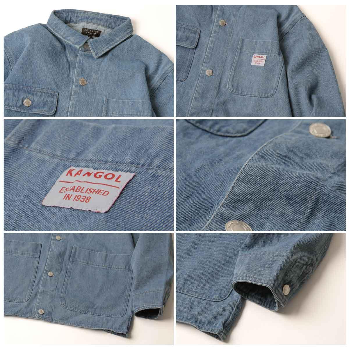 KANGOL 工裝丹寧夾克 寬版 別注款 4