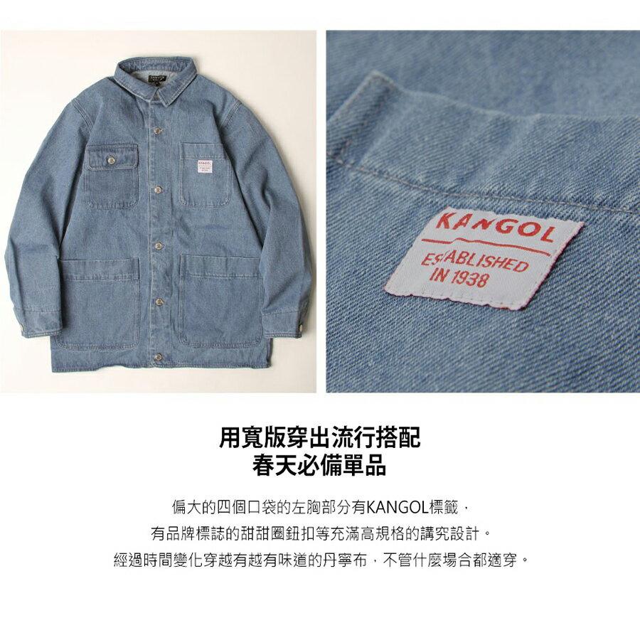 KANGOL 工裝丹寧夾克 寬版 別注款 5
