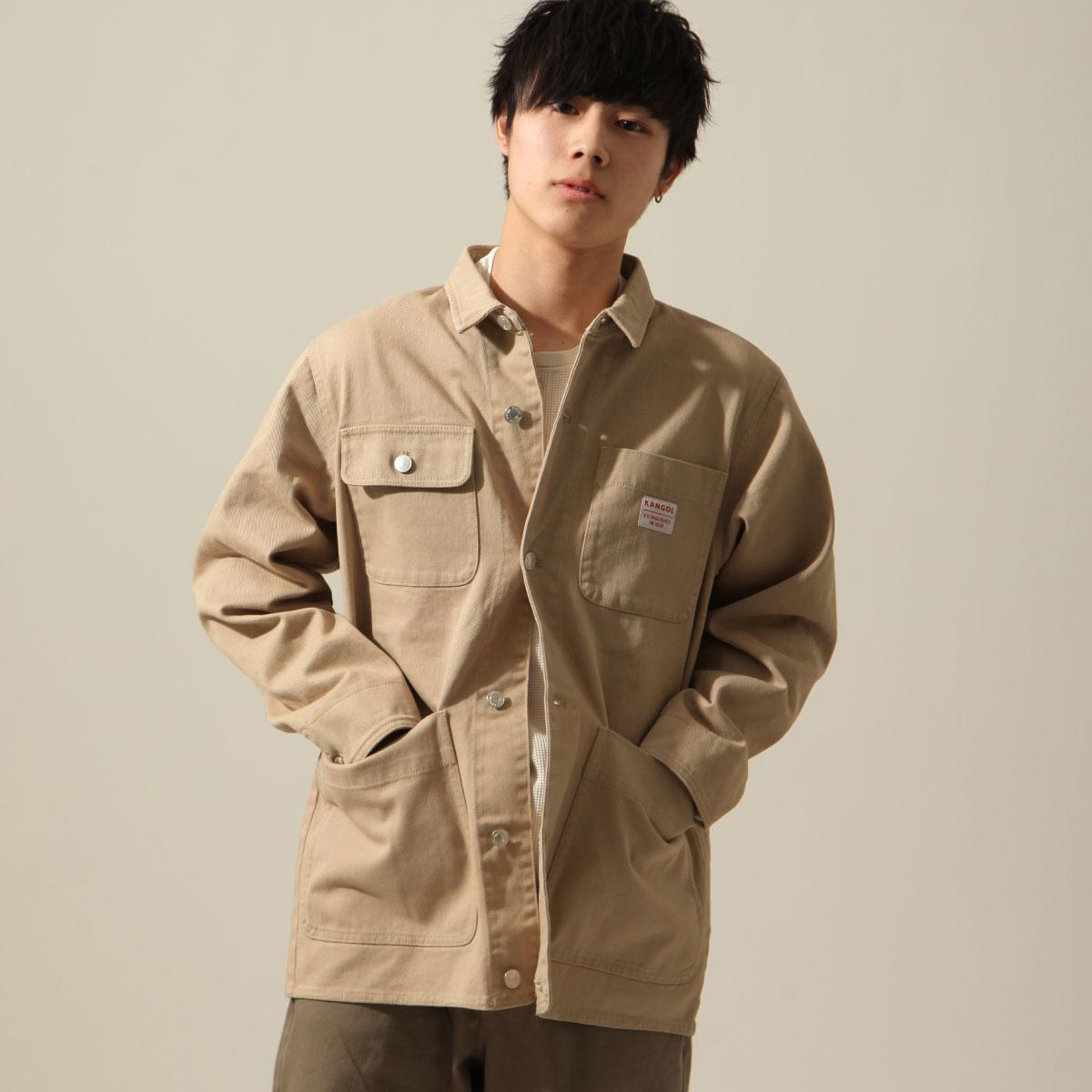 KANGOL 工裝丹寧夾克 寬版 別注款 1