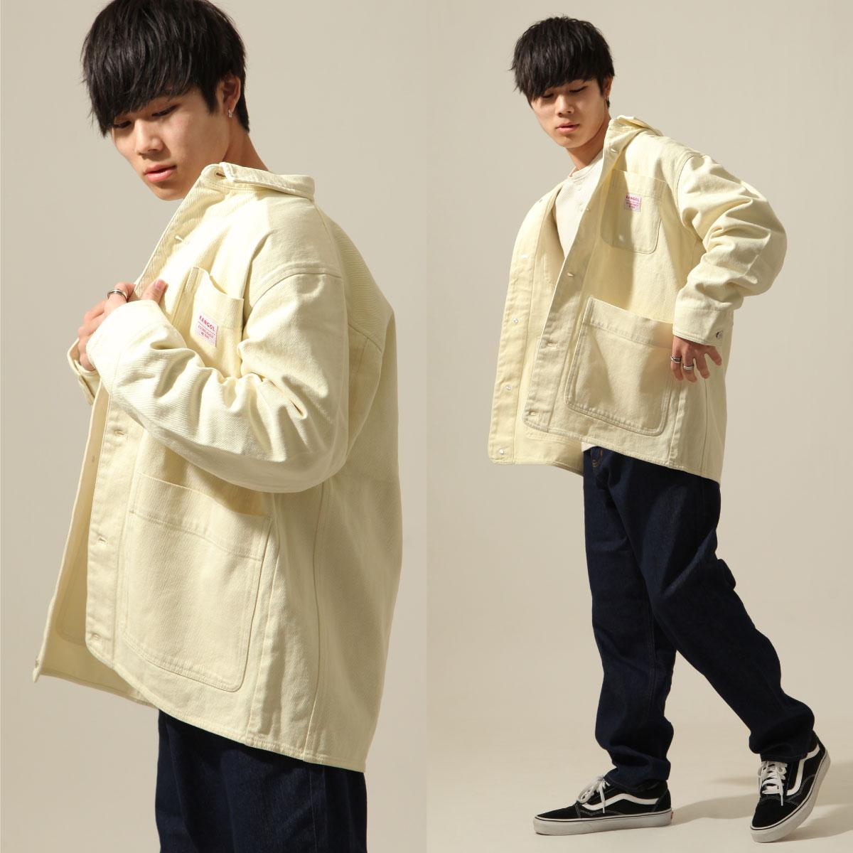 KANGOL 工裝丹寧夾克 寬版 別注款 8