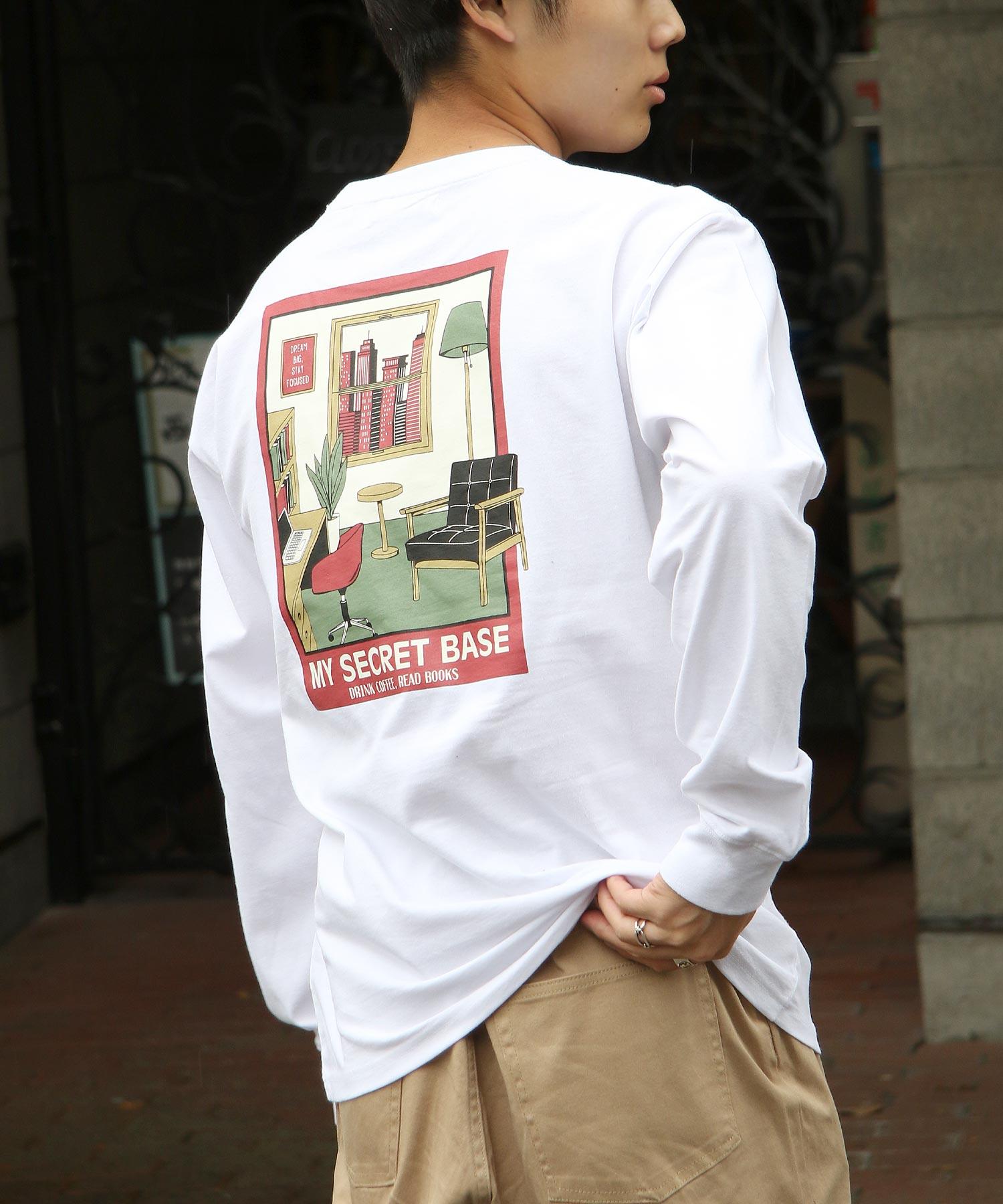 ZIP 復古插圖長袖T恤 美國純棉 7