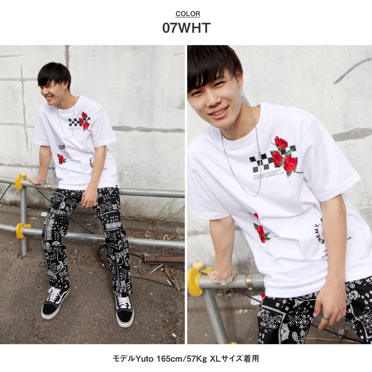 【New】ZIP 玫瑰刺繡短袖T恤 2