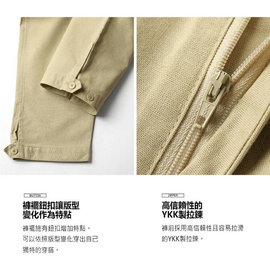 ZIP 棉麻寬褲 寬褲 6