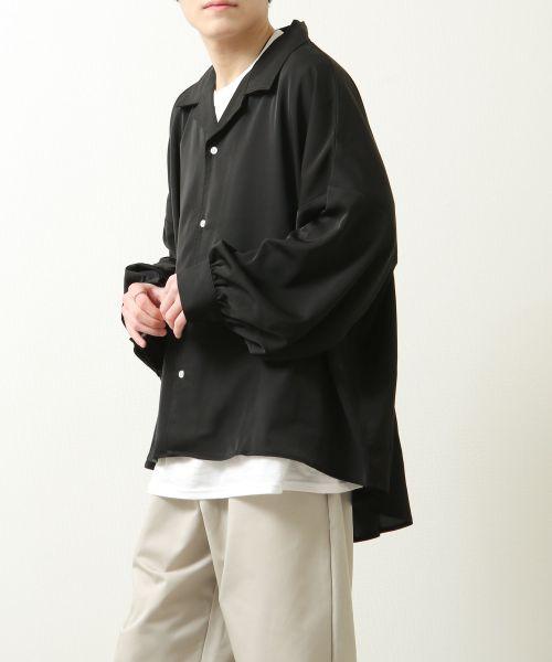 【ZIP FIVE】寬版袖寬開領襯衫