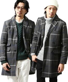 西裝式大衣 單排釦外套  輕料羊毛