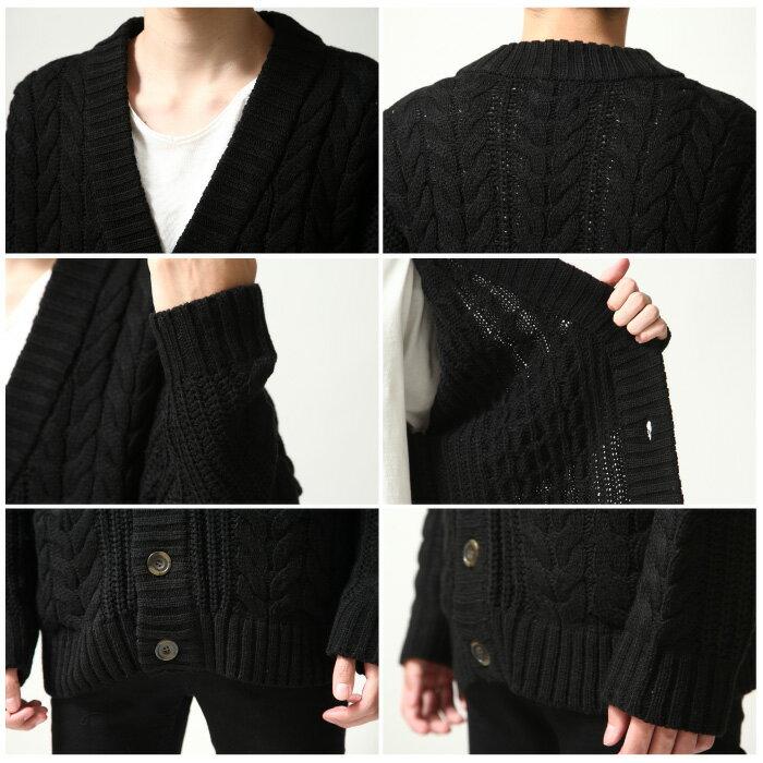 開襟外套 麻花織 3
