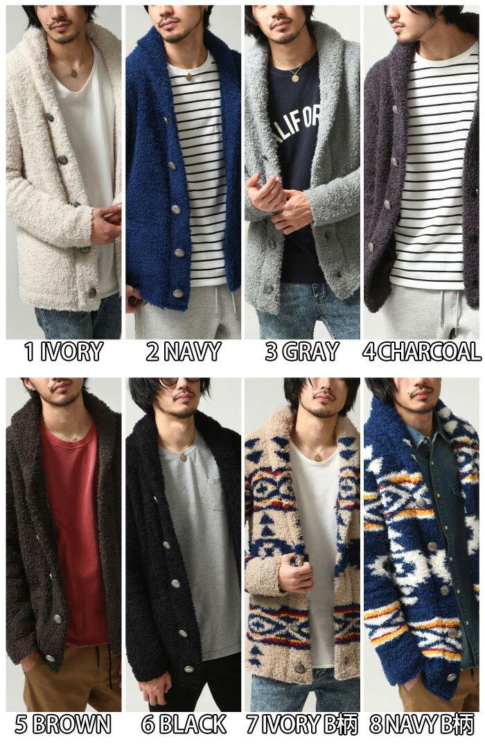 絨毛外套 圍巾領 1