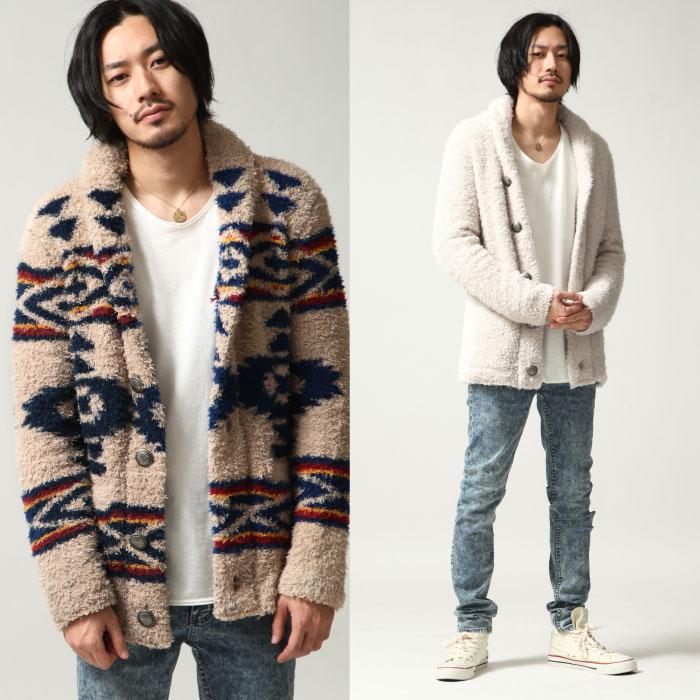 絨毛外套 圍巾領 6