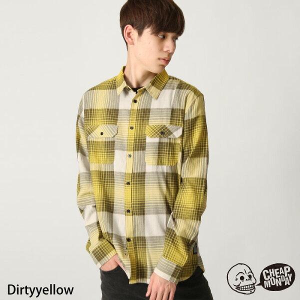 黃色格紋襯衫CHEAPMONDAY