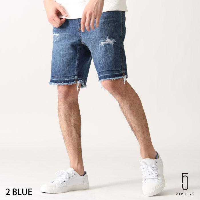 丹寧短褲 刷破 0