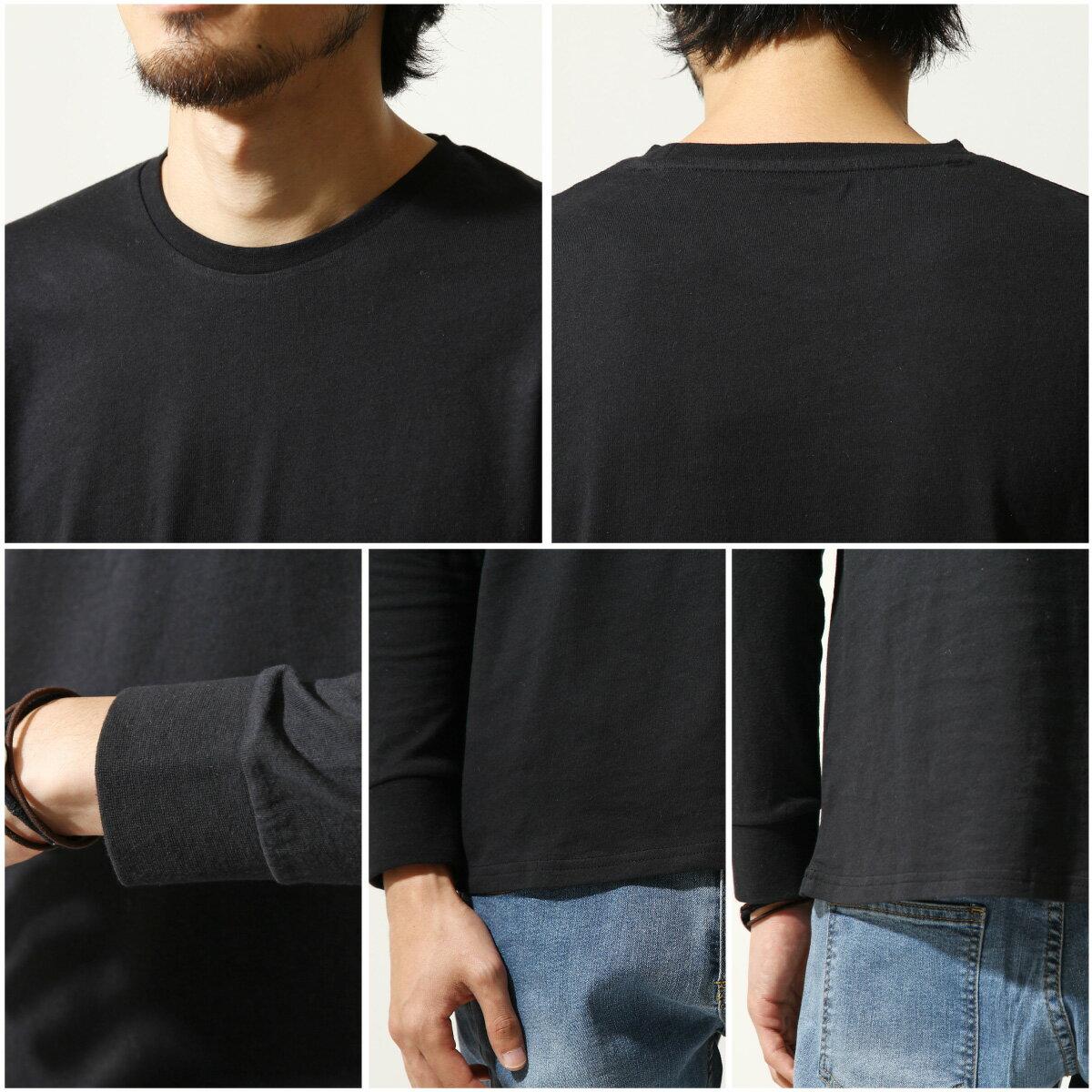素色T恤 長袖 3