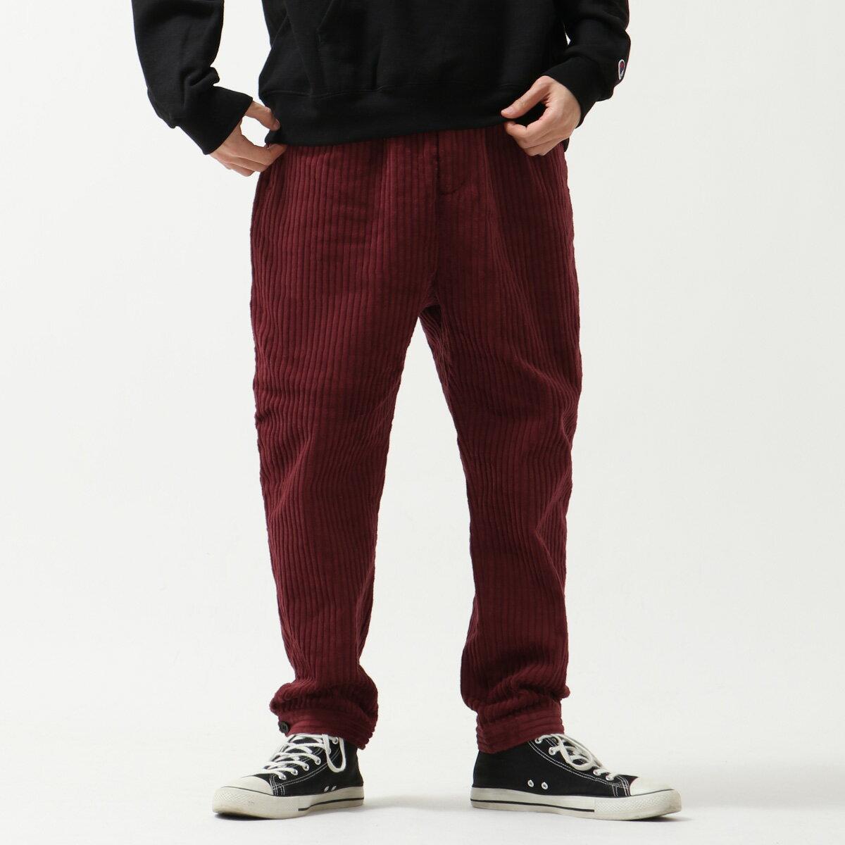 燈芯絨寬褲 錐形褲 7