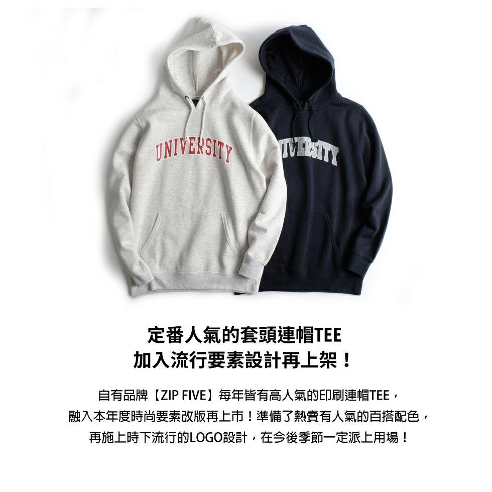 簡約印字帽T 長袖 (S~XXL) 6