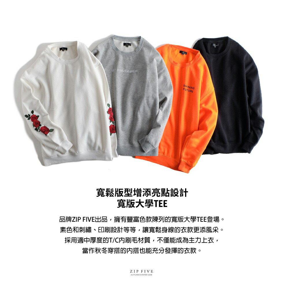 簡約運動衫 長袖 5
