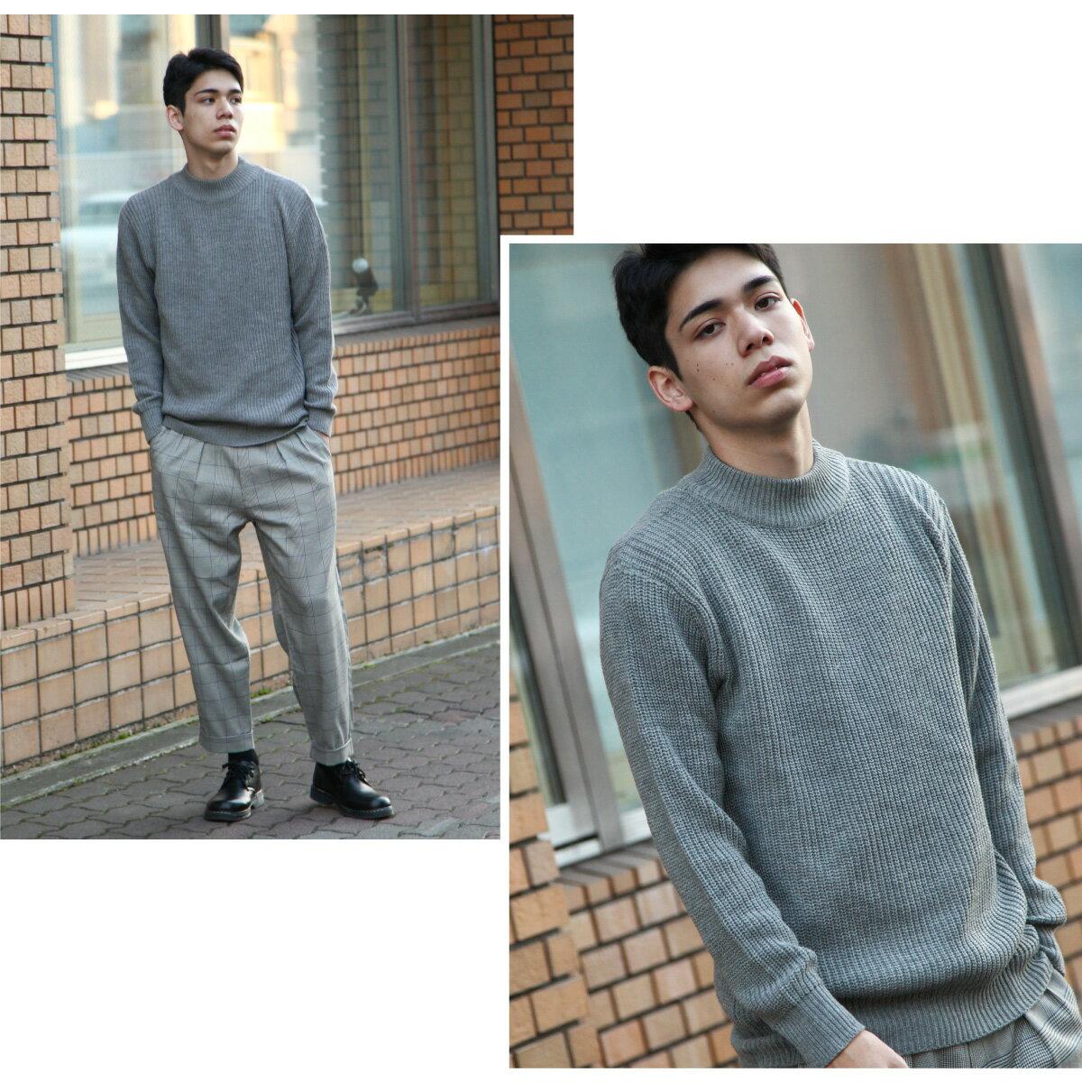 中高領毛衣 7