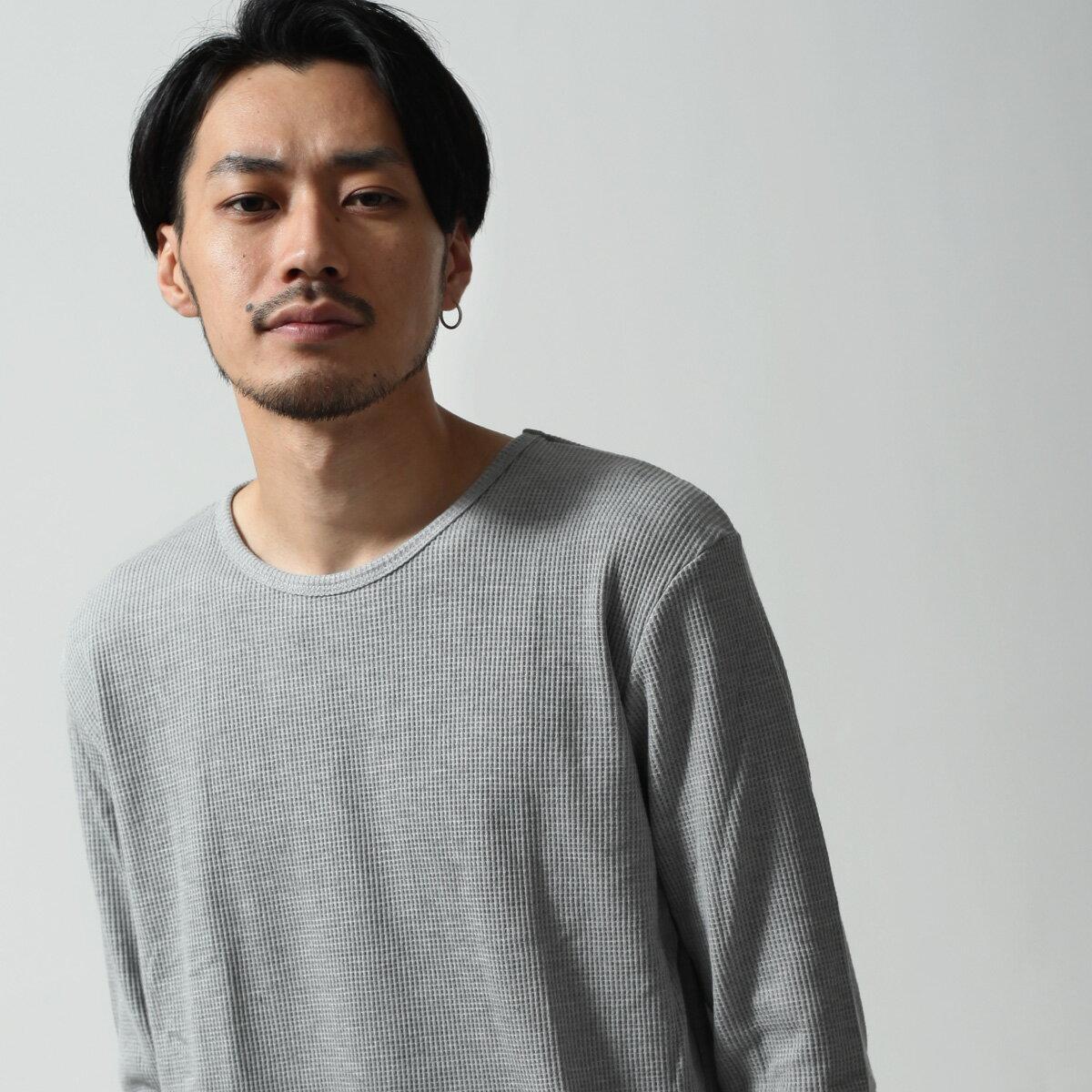 長袖T恤 鬆餅織 5