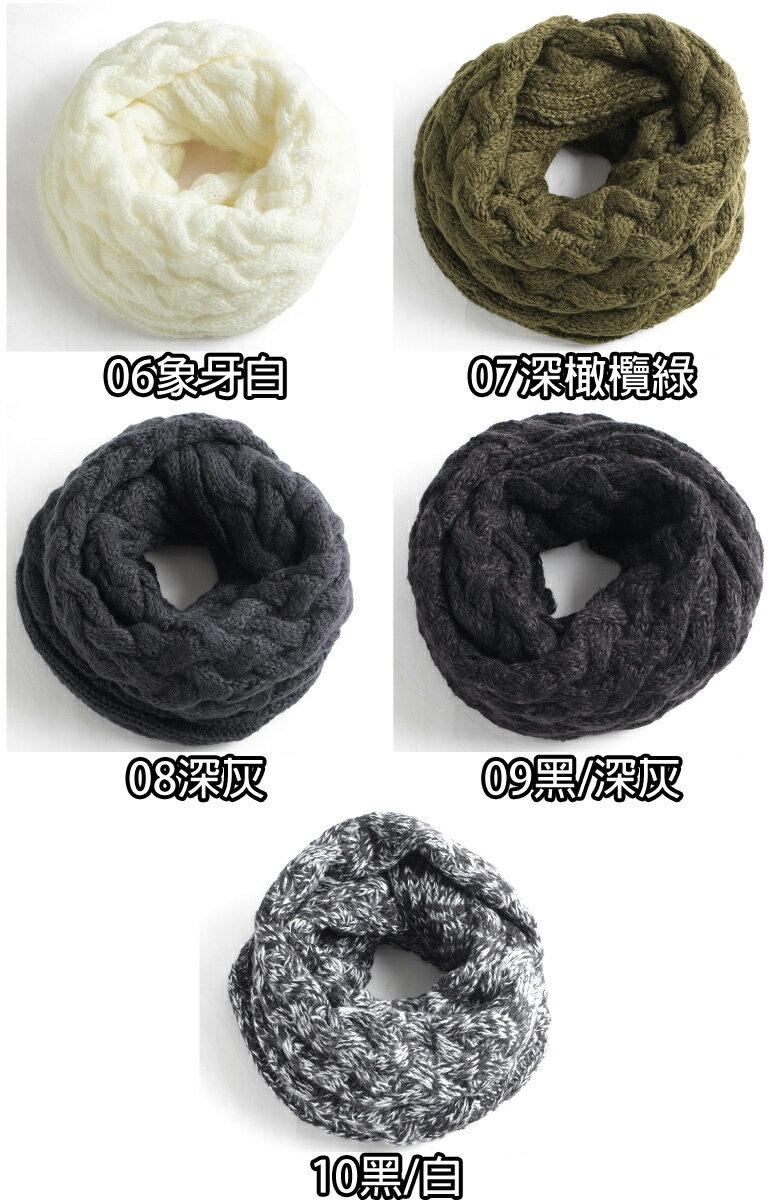 針織圍脖 麻花 / 鬆餅織 2