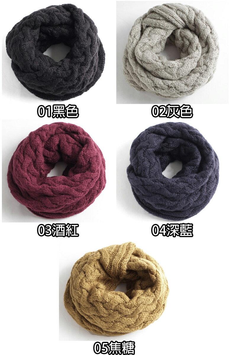 針織圍脖 麻花 / 鬆餅織 5
