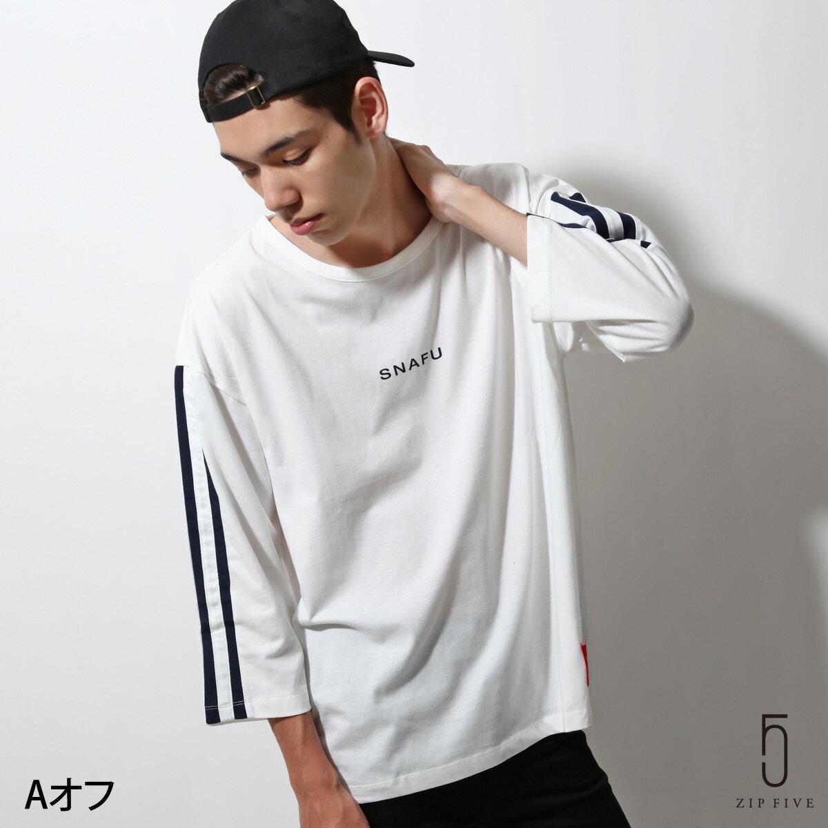 印字T恤 7分袖 0
