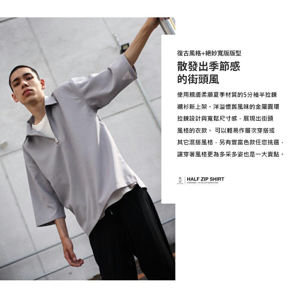 短袖襯衫 半拉鍊 8