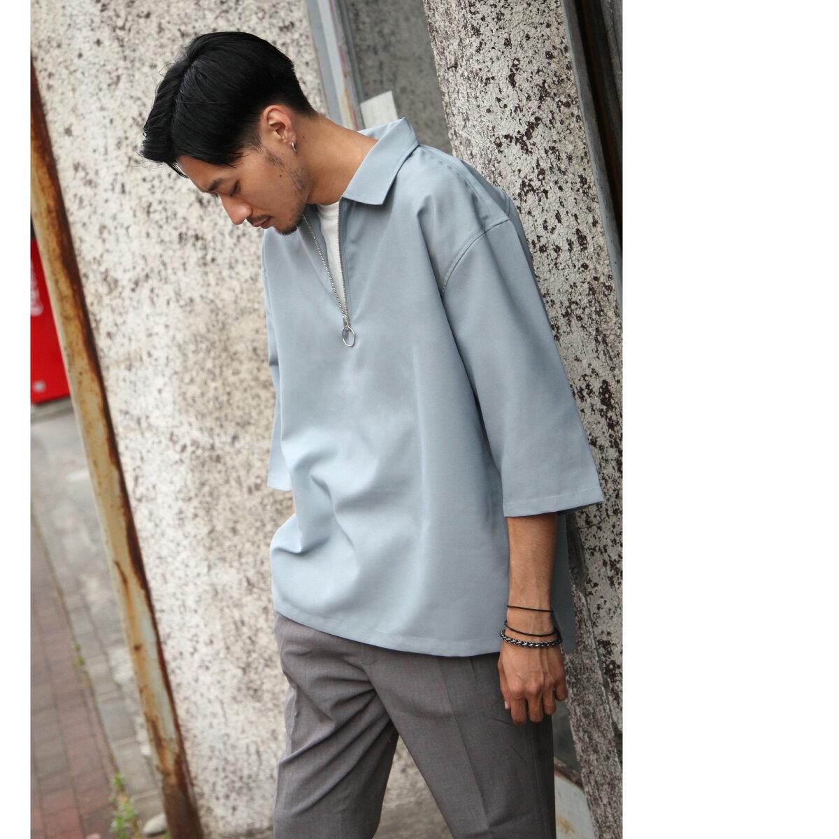 短袖襯衫 半拉鍊 1