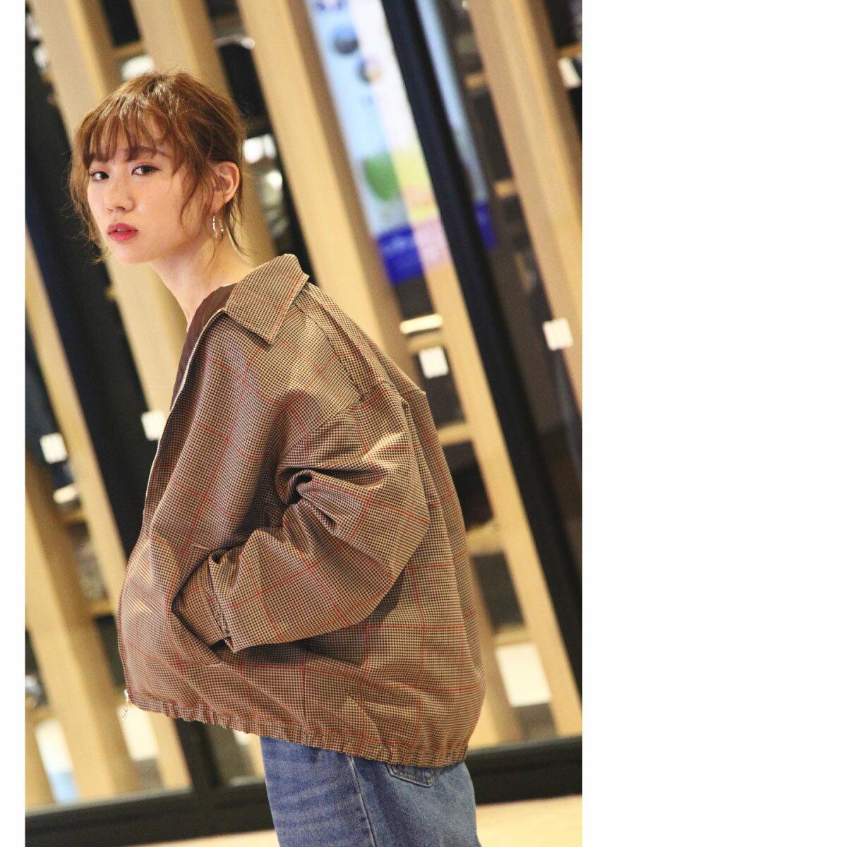 格紋夾克 外套 7