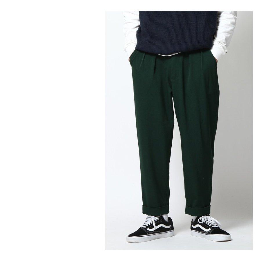 寬版9分褲 休閒褲 1