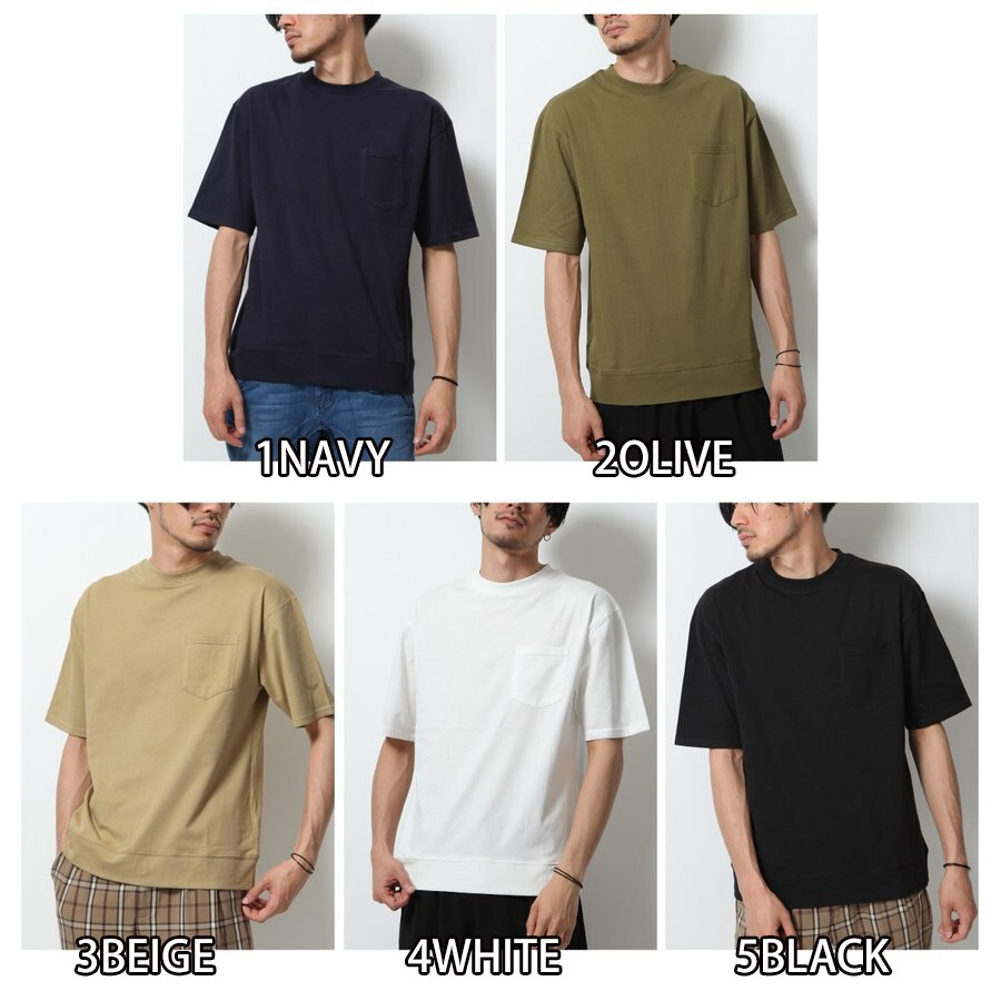 短袖口袋T恤 接觸涼感 2