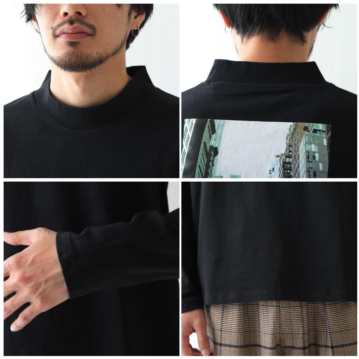 【現貨】微高領長袖T恤 LOGO設計 5