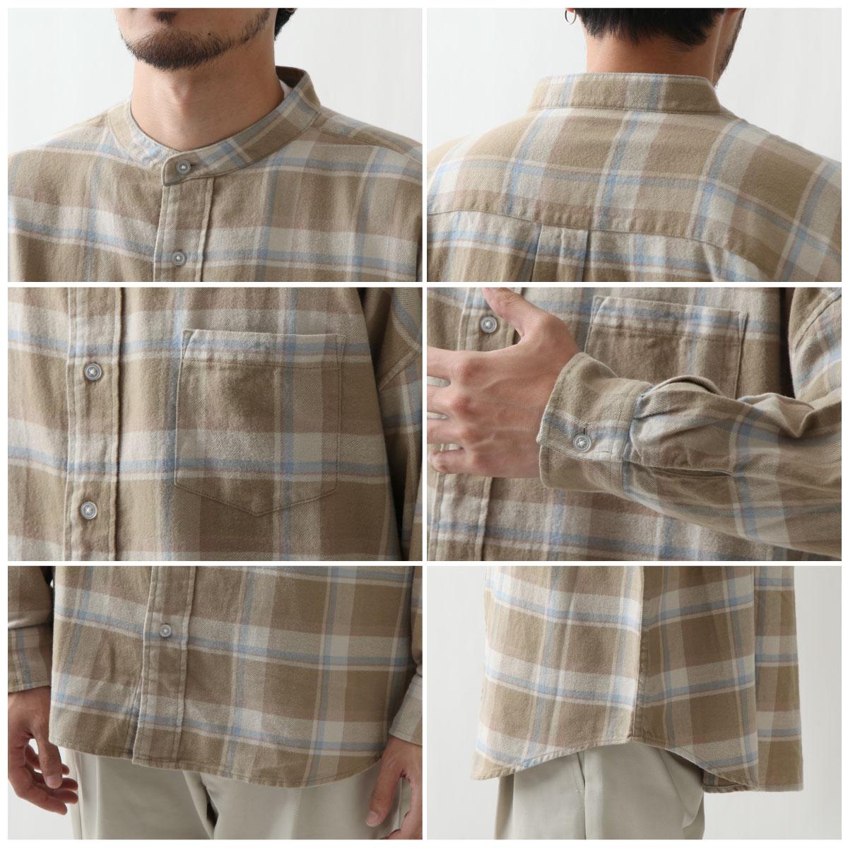法蘭絨立領襯衫 寬版 4