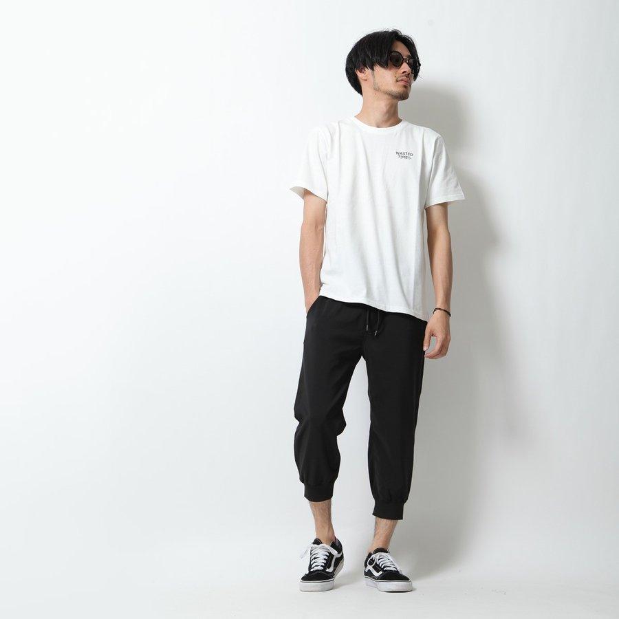 亞麻風七分束口褲 休閒褲 7