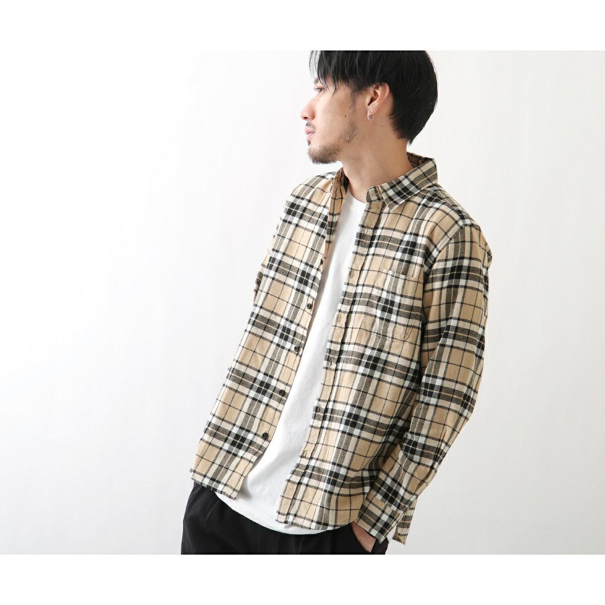 純棉法蘭絨襯衫 格紋 1