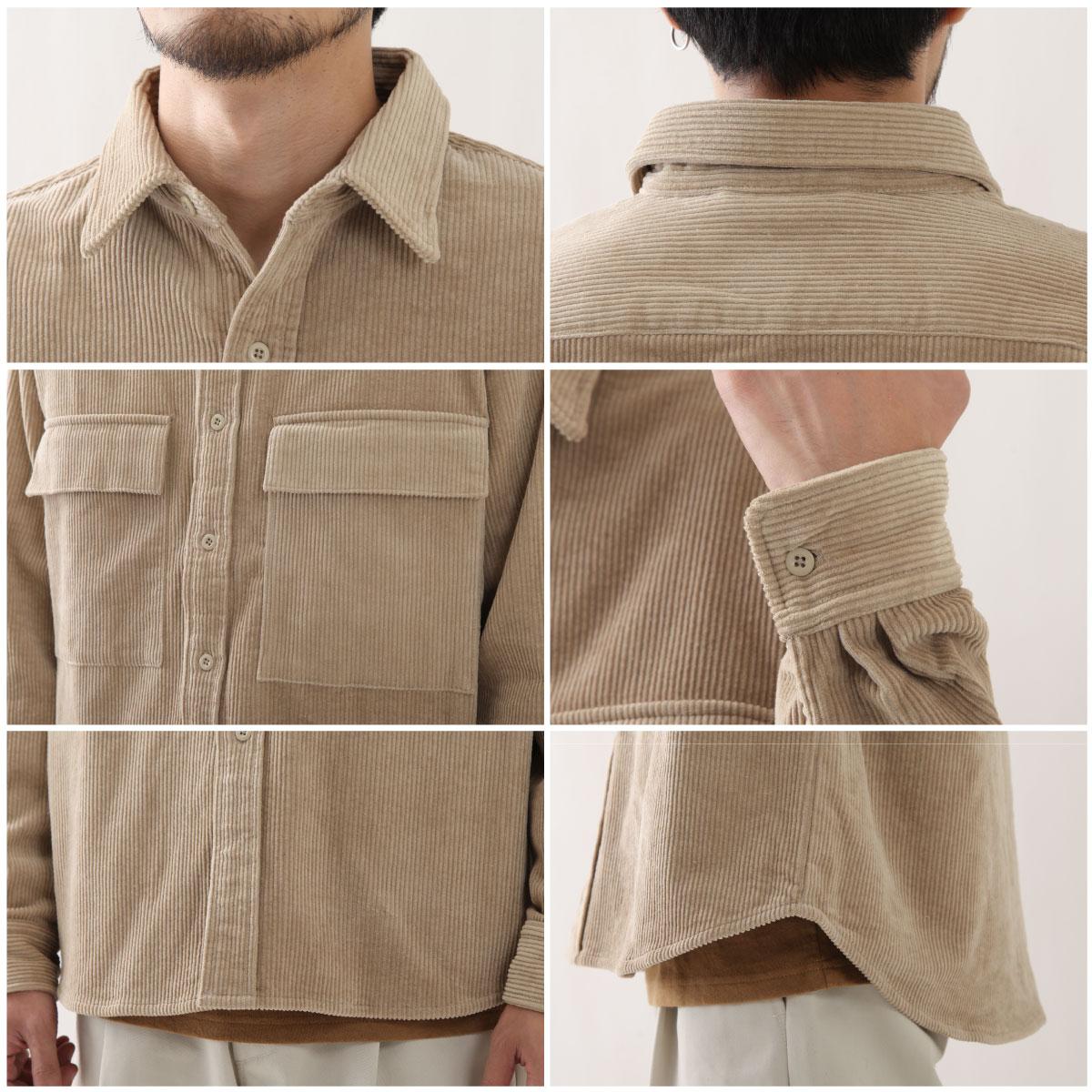 燈芯絨襯衫 口袋 4