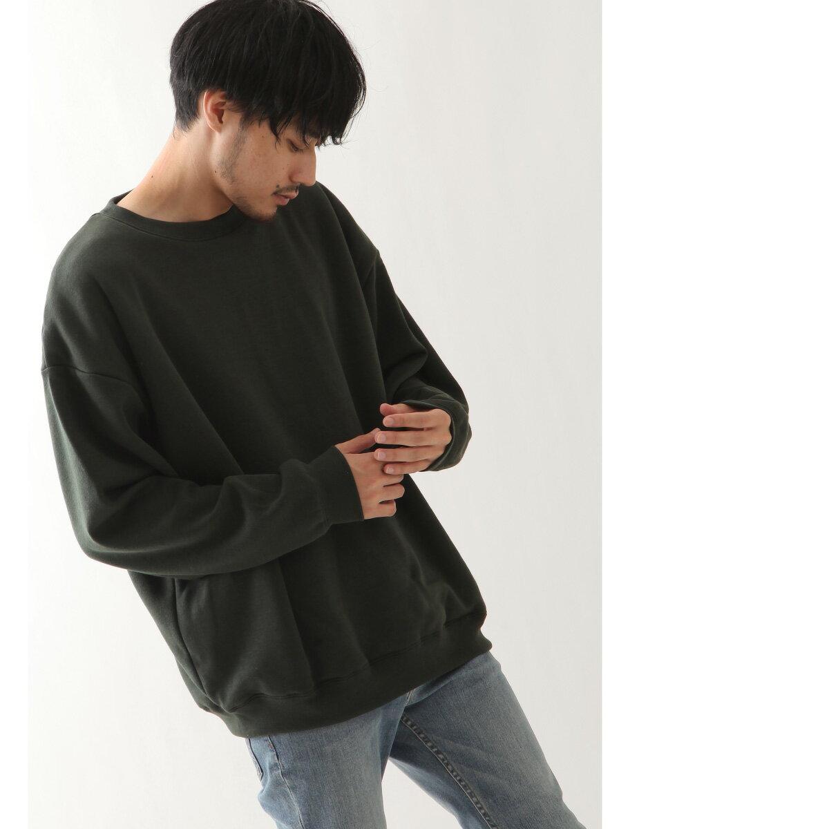 寬版針織運動衫 長袖 1
