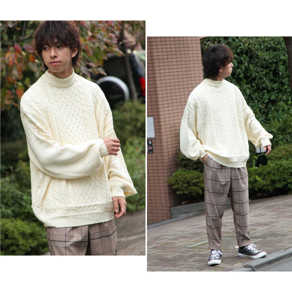 麻花針織衫 寬版 1
