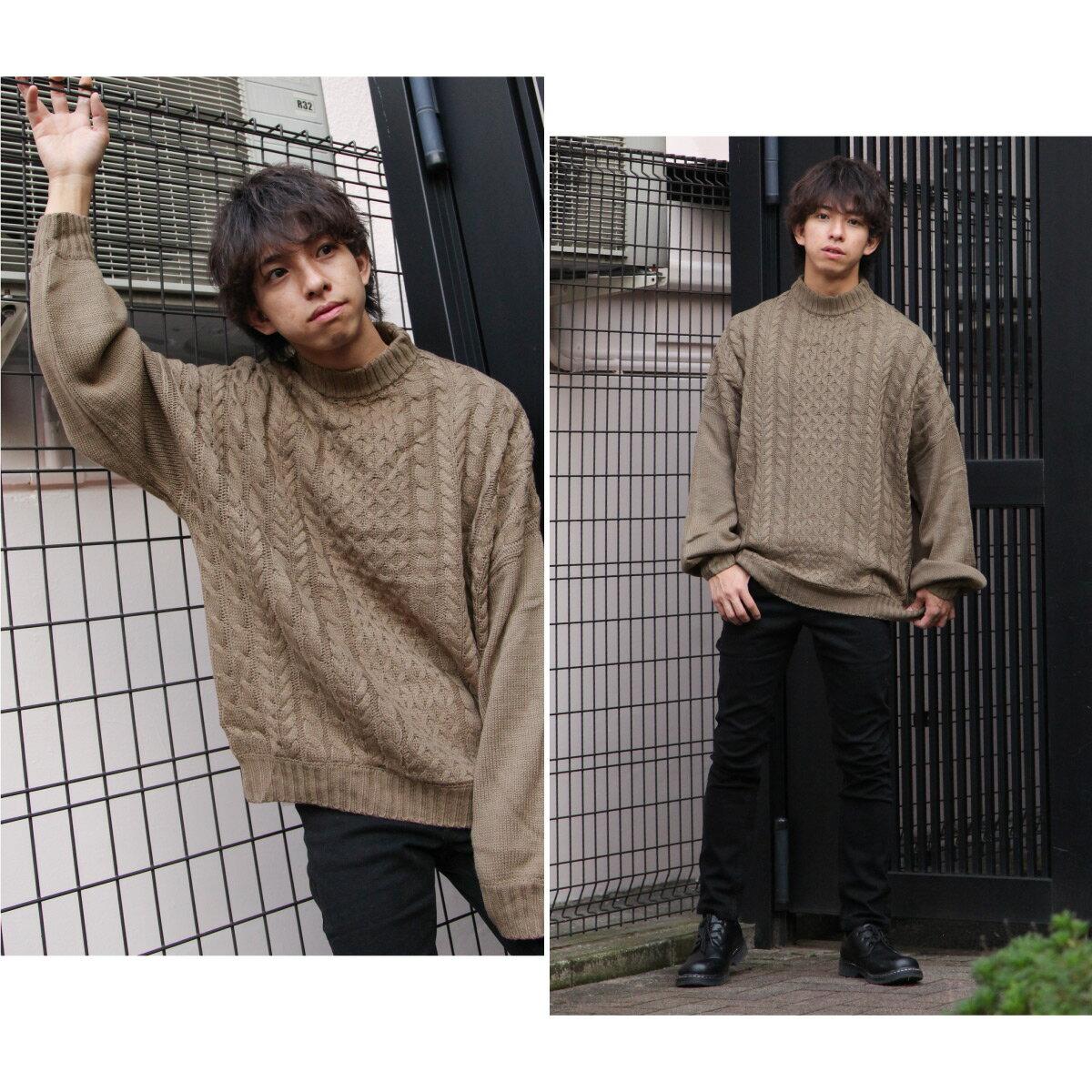 麻花針織衫 寬版 8