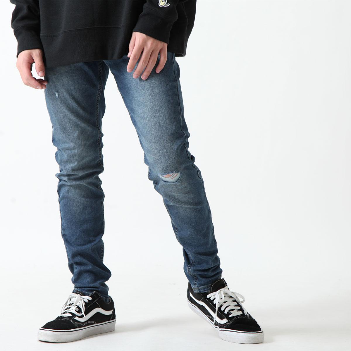 經典丹寧窄管褲 伸縮彈性 7