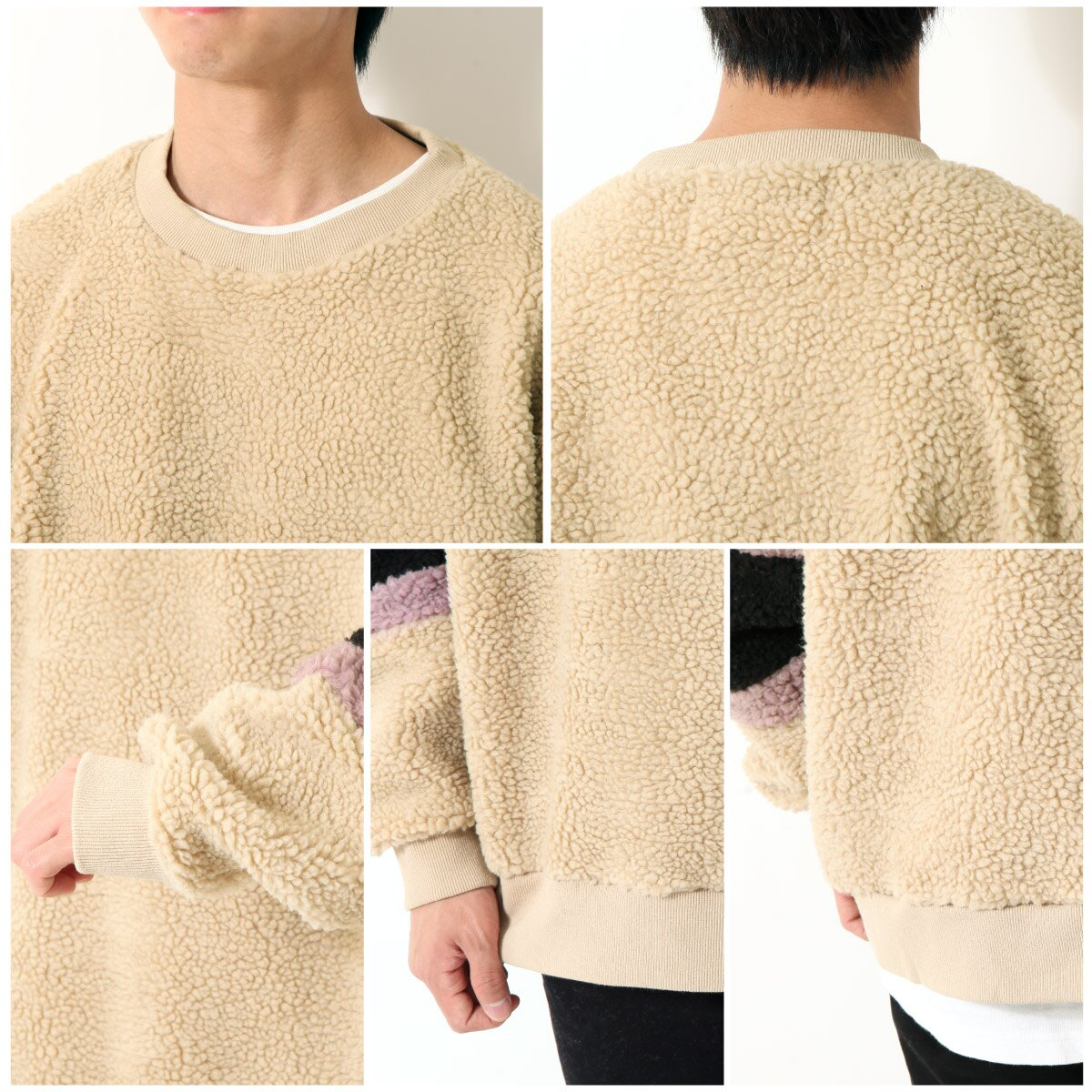 仿羊絨運動衫 寬版 4