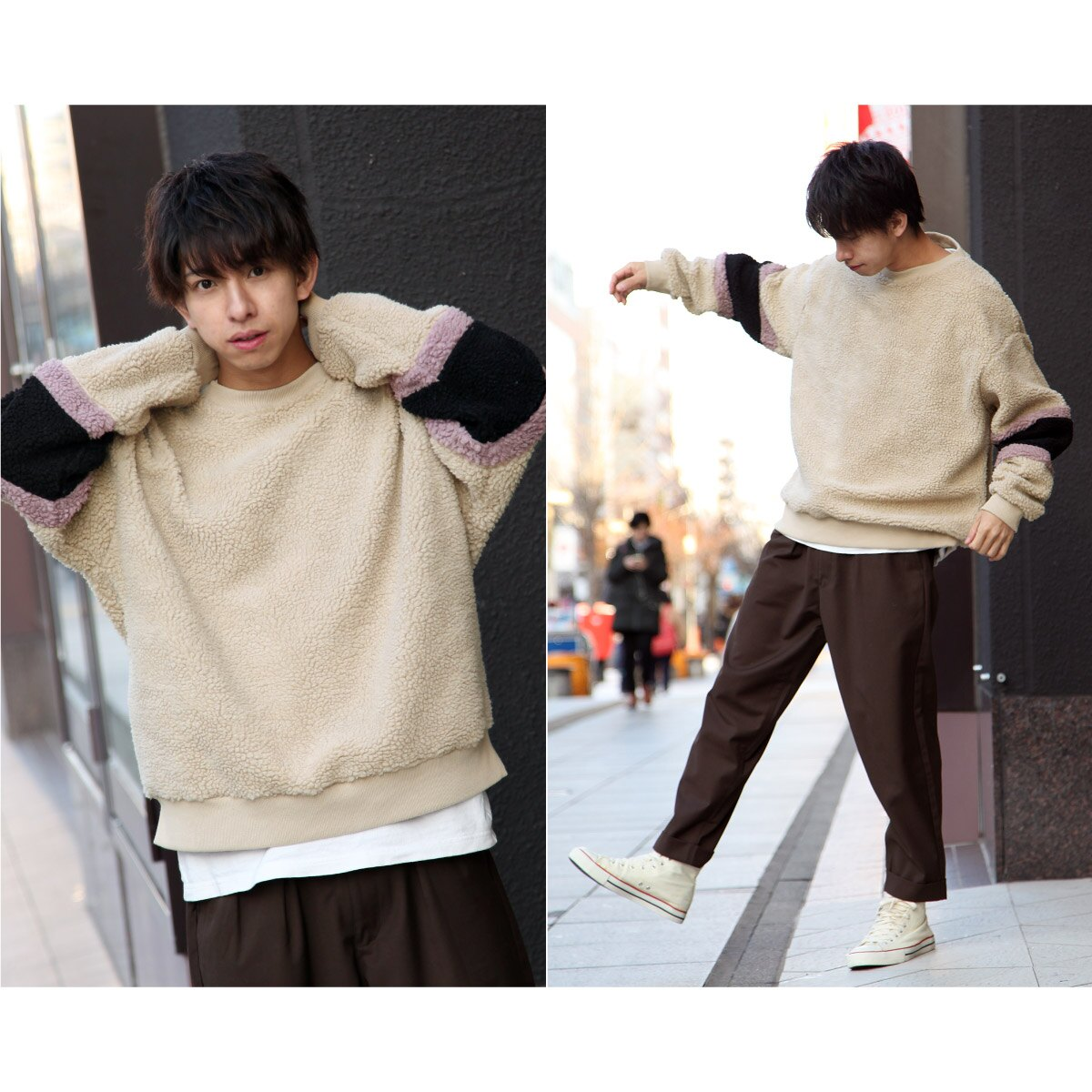 仿羊絨運動衫 寬版 7