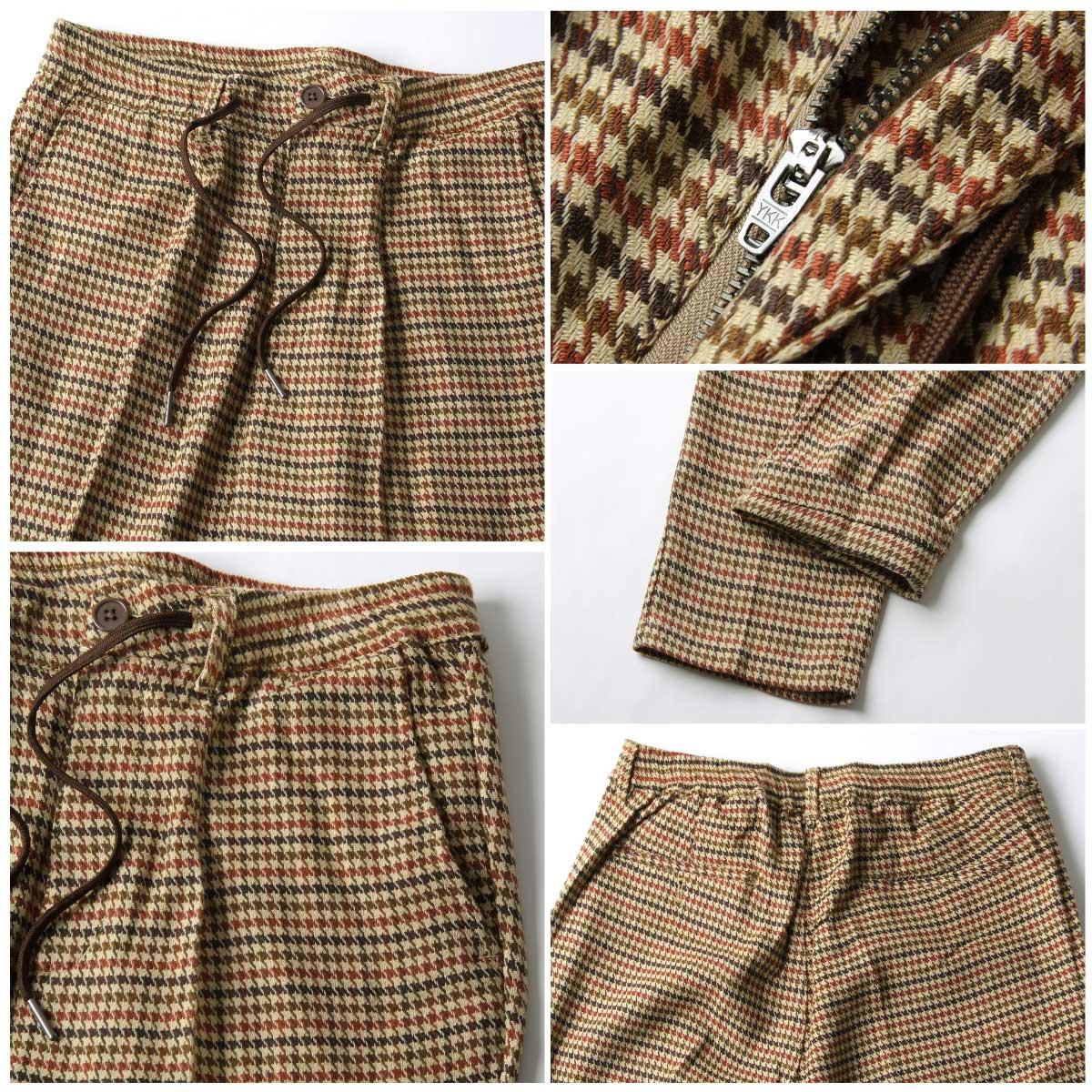 格紋9分錐形休閒褲 鬆緊帶 4