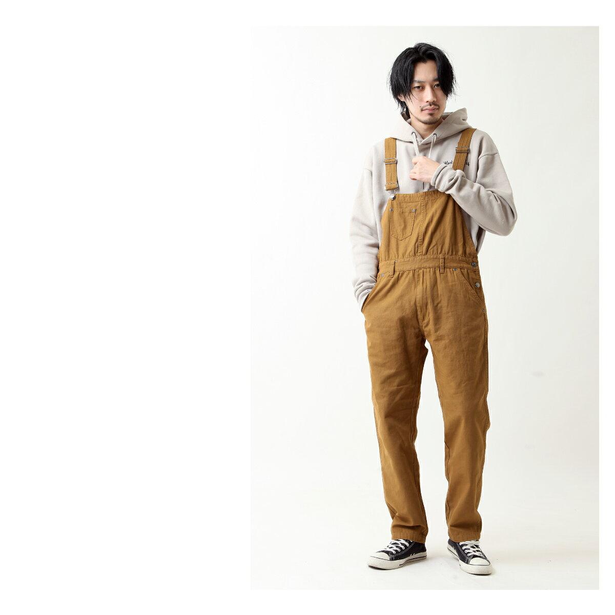 美式休閒吊帶褲 斜紋織 / 丹寧 8