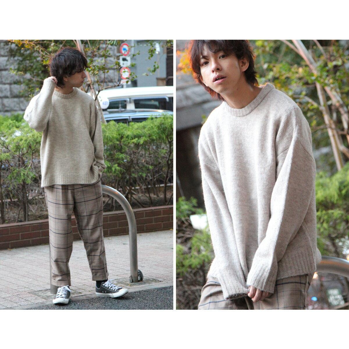 素色針織衫 寬版 6