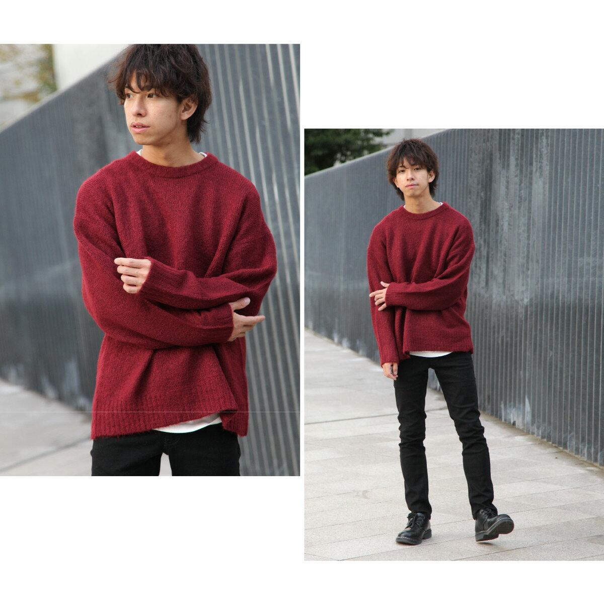素色針織衫 寬版 1