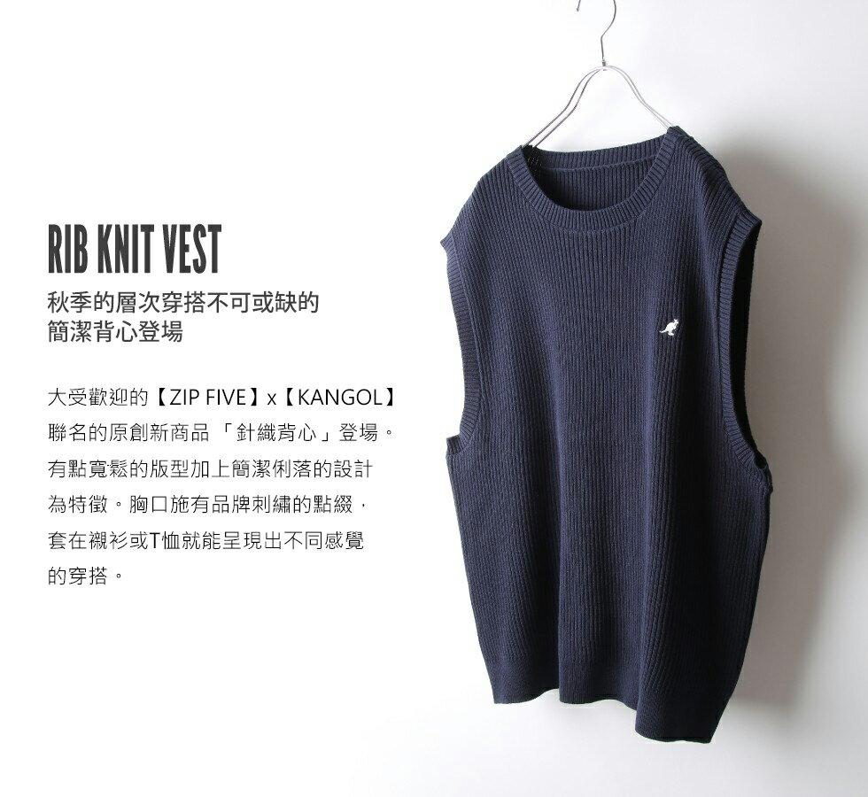 素色純棉針織背心 KANGOL聯名款 6