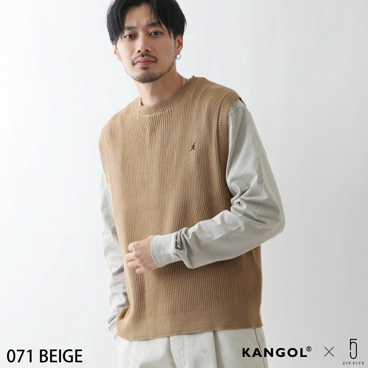 素色純棉針織背心 KANGOL聯名款 0